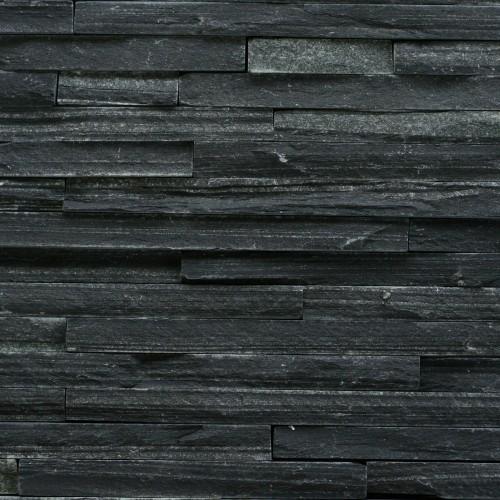 Břidlice černá, skládaný obklad úzké pásky