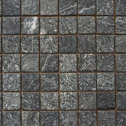 Křemenec - Quartzite, černý, opalovaný-mozaika