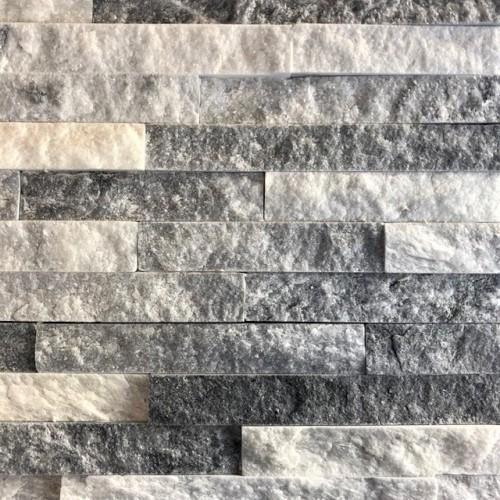 Křemenec šedo-bílý obklad